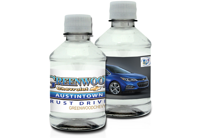 8oz. Custom Label Bottled Water with a 2x8 Full Color Label
